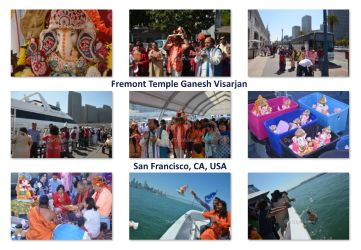 Pictures of Fremont Temple Ganesh Visarjan, San Francisco, CA, USA