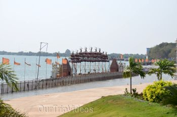 Pictures of Pavitra Sangam of Krishna and Godavari rivers, Vijayawada, AP, India