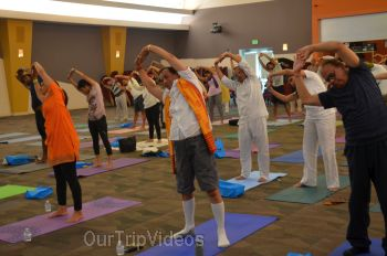 Pictures of International Yoga Day at ICC, Milpitas, CA, USA