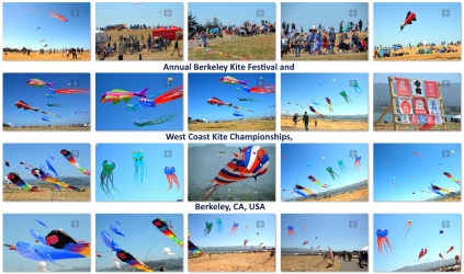 Pictures of Berkeley Kite Festival and West Coast Kite Championships, Berkeley, CA, USA