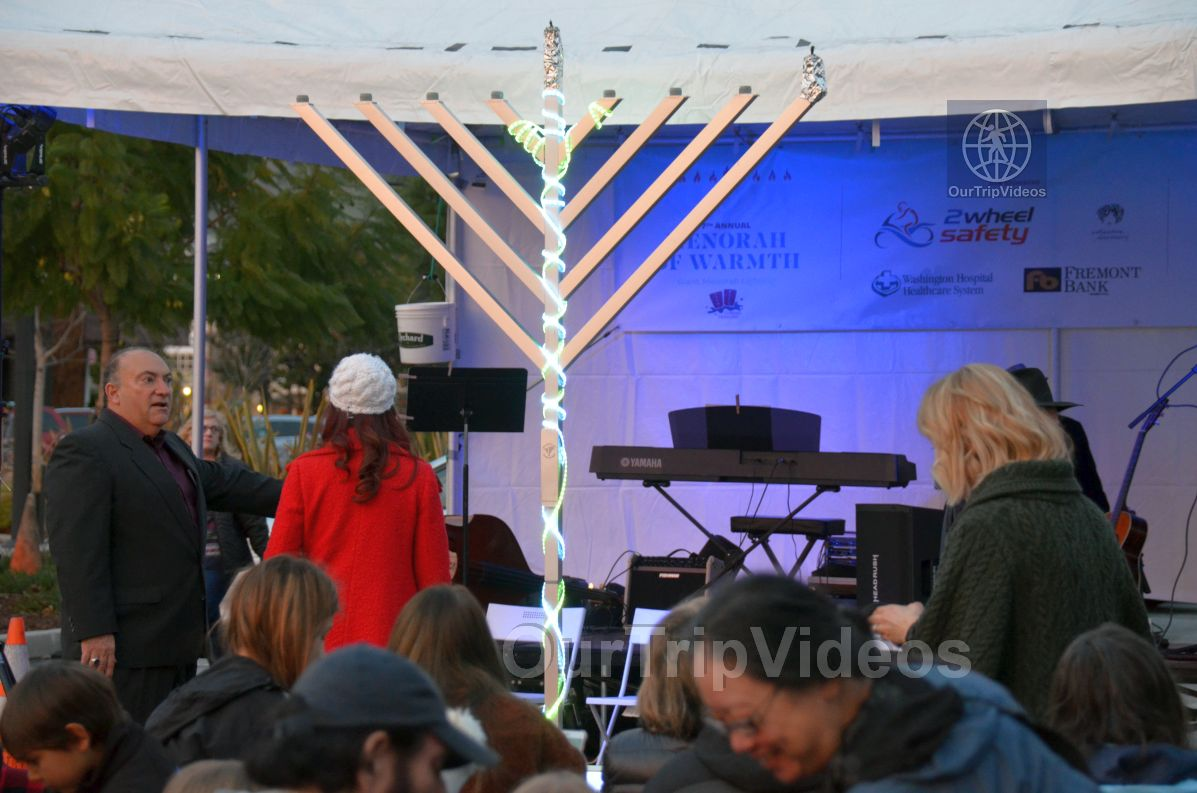 Annual Chanukah Lighting - Menorah of Warmth, Fremont, CA, USA - Picture 23 of 25