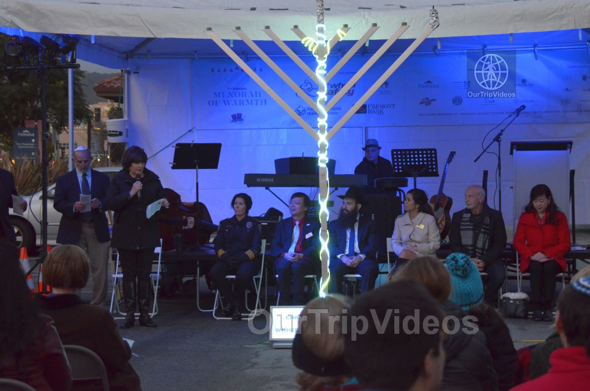 Annual Chanukah Lighting - Menorah of Warmth, Fremont, CA, USA - Picture 26 of 50