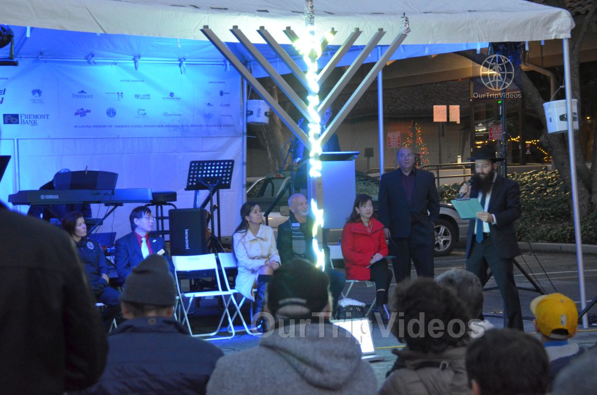 Annual Chanukah Lighting - Menorah of Warmth, Fremont, CA, USA - Picture 38 of 50
