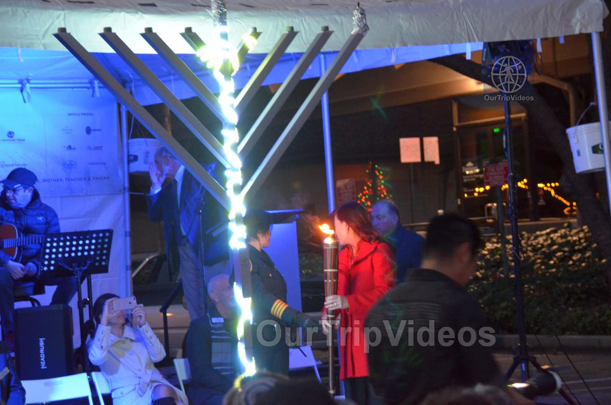 Annual Chanukah Lighting - Menorah of Warmth, Fremont, CA, USA - Picture 40 of 50