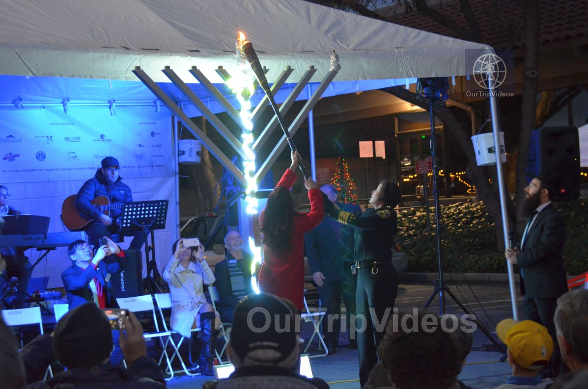 Annual Chanukah Lighting - Menorah of Warmth, Fremont, CA, USA - Picture 41 of 50