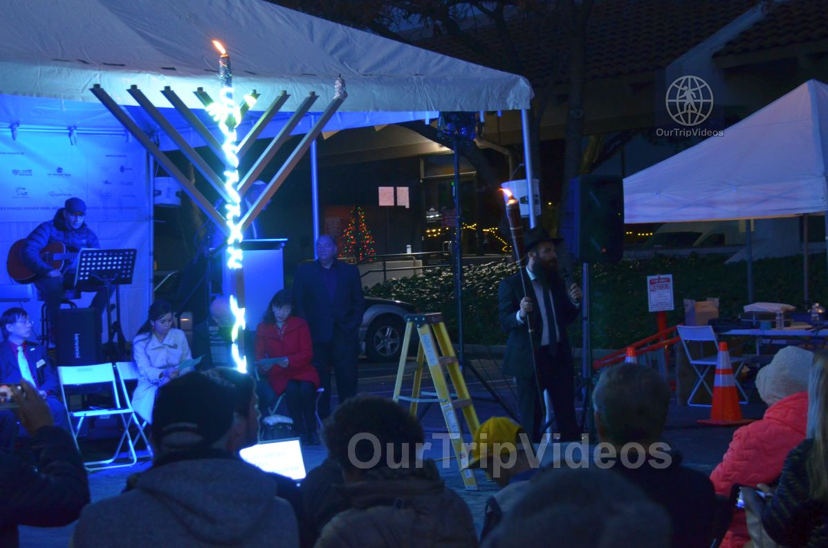 Annual Chanukah Lighting - Menorah of Warmth, Fremont, CA, USA - Picture 44 of 50
