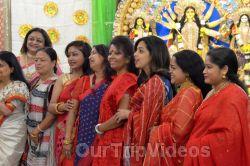 FOG Bengal Durga Puja - Sindur Khela and Temple Aarati, Fremont, CA, USA - Picture 21