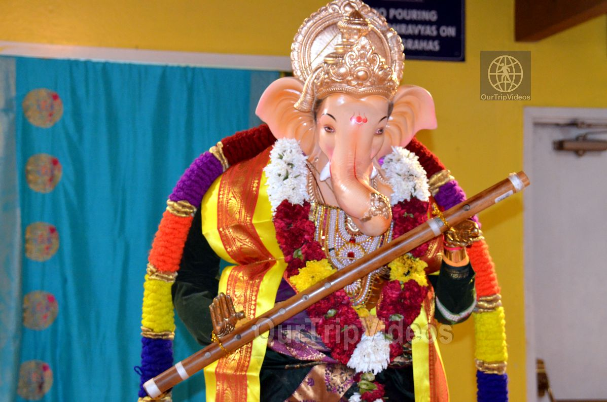 Ganesh chaturthi at SVCC Temple, Fremont, CA, USA - Picture 10 of 25