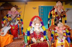 Ganesh chaturthi at SVCC Temple, Fremont, CA, USA - Picture 6