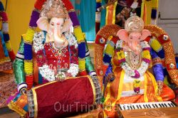 Ganesh chaturthi at SVCC Temple, Fremont, CA, USA - Picture 9