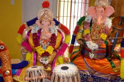 Ganesh chaturthi at SVCC Temple, Fremont, CA, USA - Picture 12