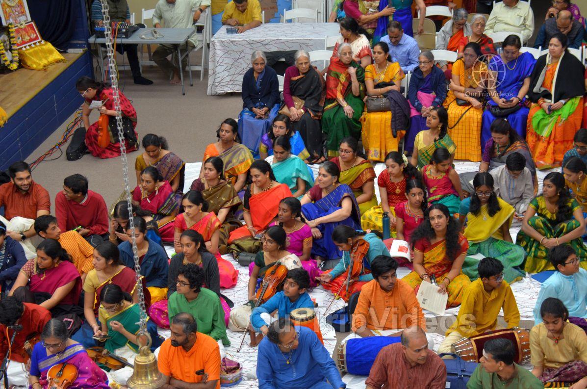 Lotus Tyagaraja Aradhana at Sanatana Dharma Kendra, San Jose, CA, USA - Picture 31 of 50